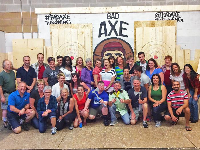 Axe Throwing Kitchener Waterloo - Corporate Event
