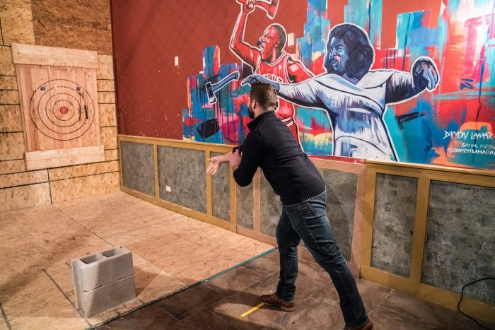 Axe throwing safety