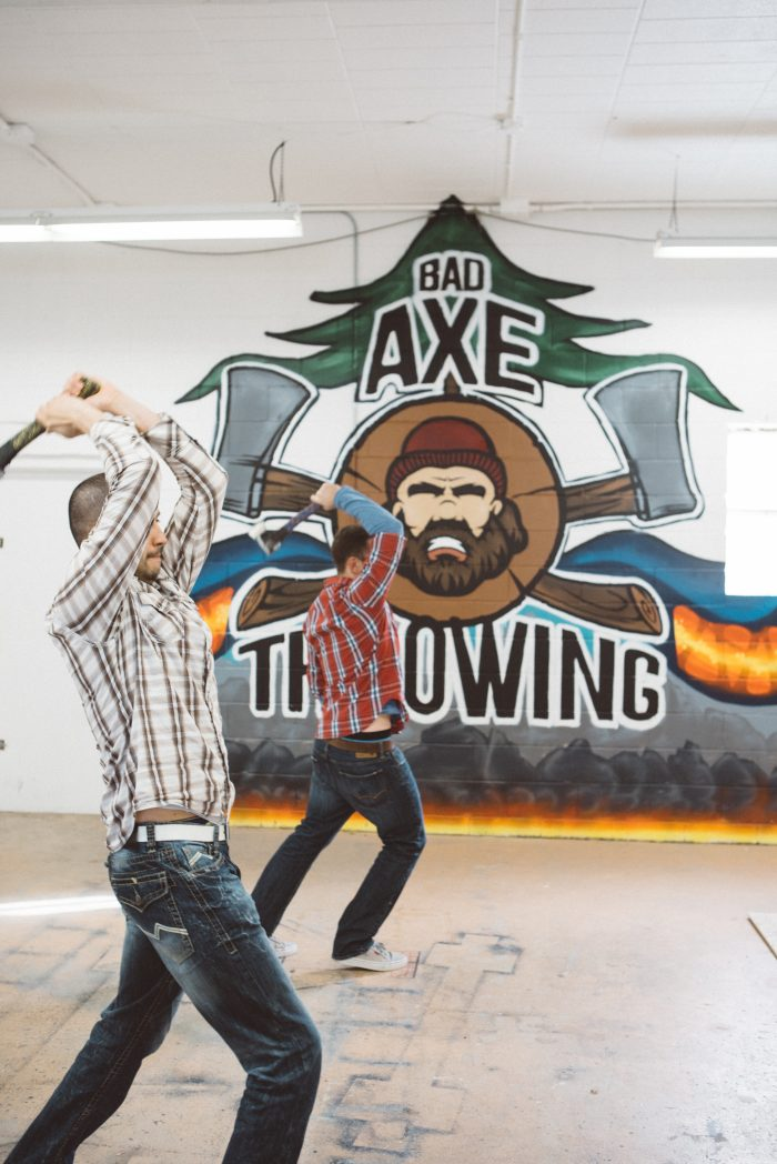axe throwing at Bad Axe Throwing