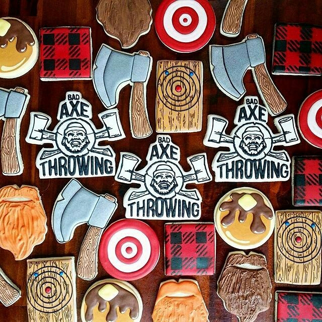 Custom cookies for Bad Axe Throwing