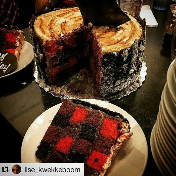 Lumberjack Plaid Birthday Cake at Bad Axe Throwing