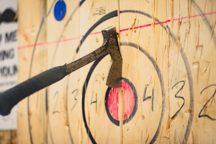 Axe Throwing Wooden Target