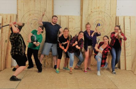 Celebrating 150 years of Canada at Bad Axe Throwing