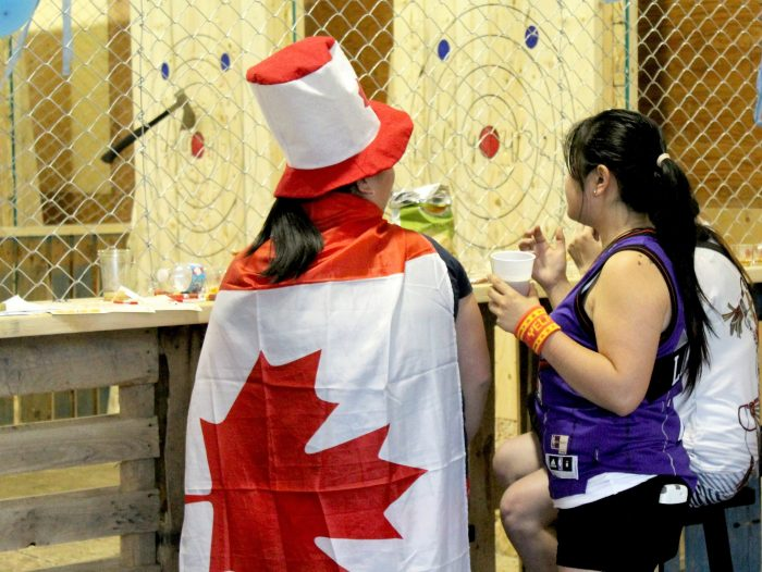 Canada's 150 years being celebrated at Bad Axe Throwing