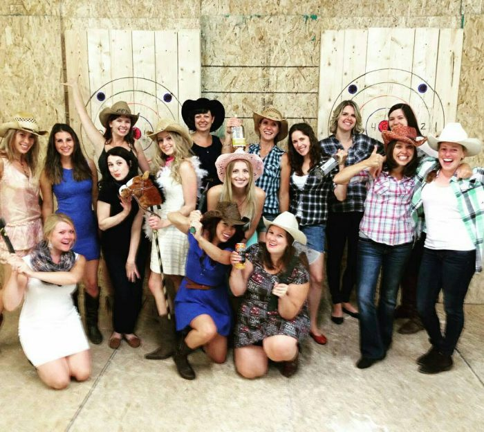 Axe Throwing Bachelorette Group