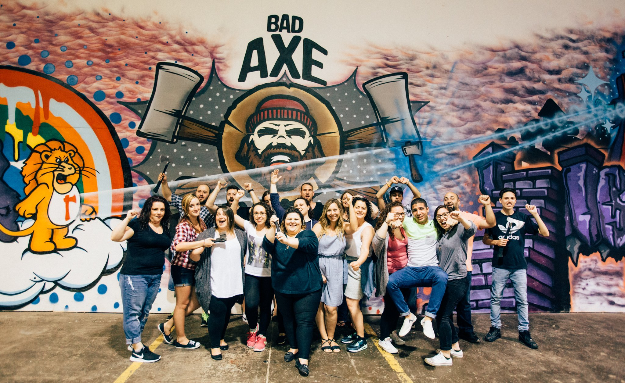 Adult Axe Throwing Birthday Party