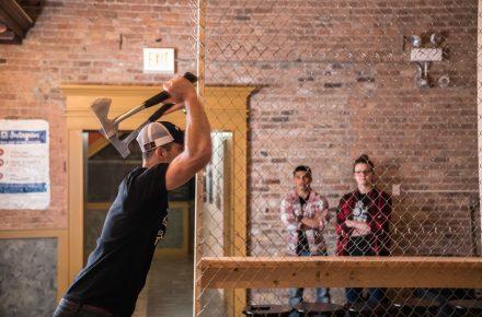 Learn to throw an axe!