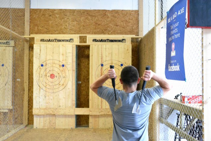 double axe throwing in Edmoton