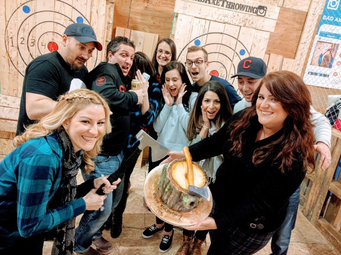 Bad Axe Throwing Kitchener birthday party