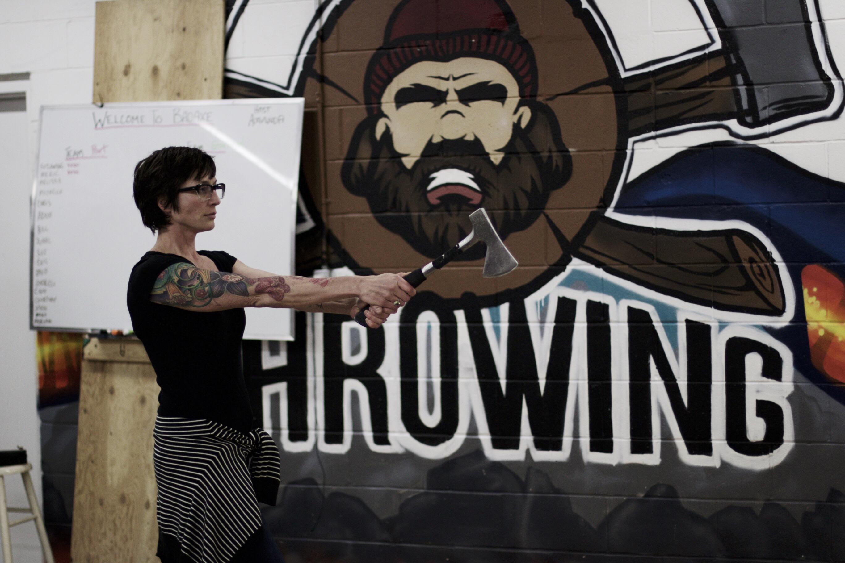 Bad Axe Throwing Graffiti Mural