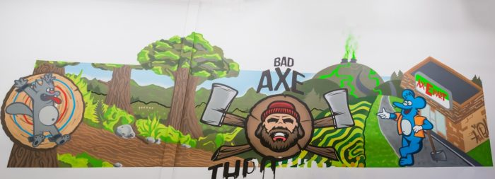 Bad Axe Throwing Winnipeg Graffiti Mural
