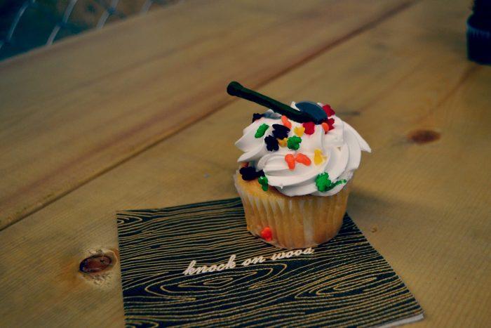 Axe Throwing Cupcake