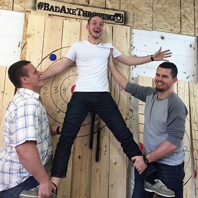 Ottawa Bad Axe Throwing bachelor party