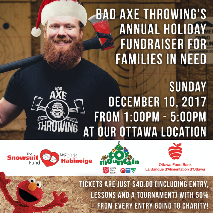 Bad Axe Throwing working with local charities