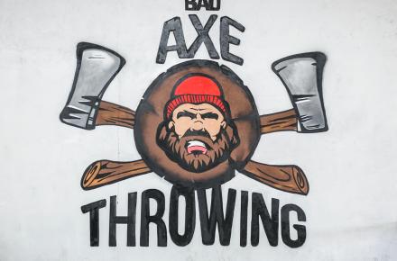 Ottawa's Art work at Bad Axe Throwing