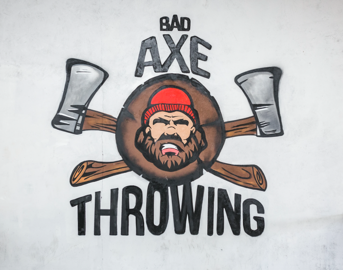 Ottawa's Art work at Bad Axe Throwing