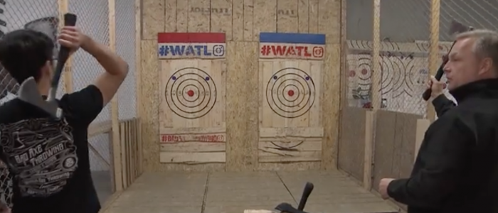 CBC Radio Canada goes Axe Throwing
