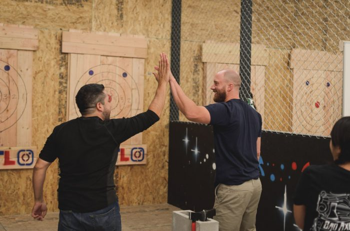 Axe Throwing fun this holiday season