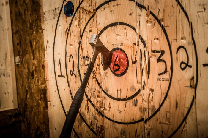 Axe Throwing for New Year's Resolution