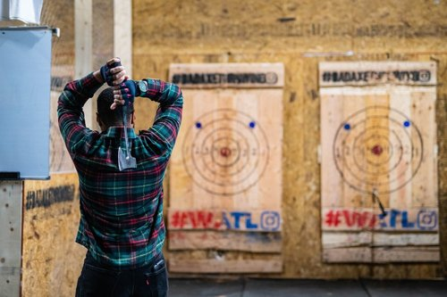 Learning to throw axes at the corporate event