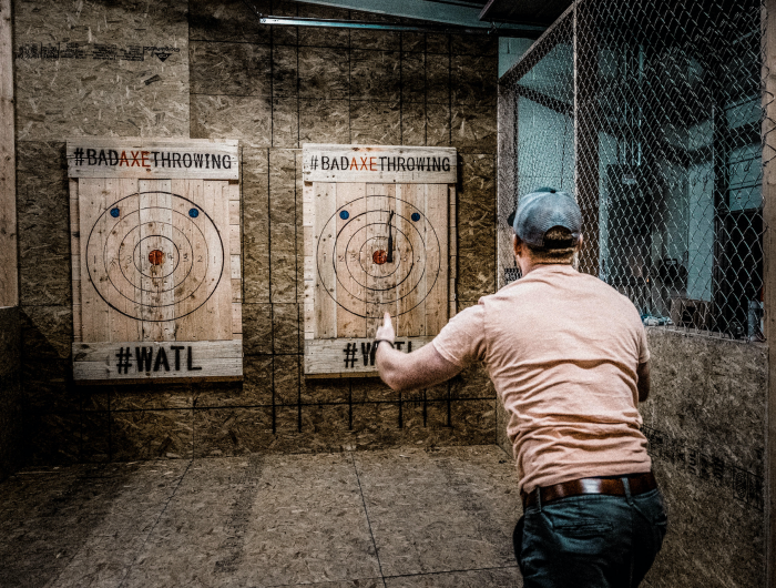 father's day axe throwing