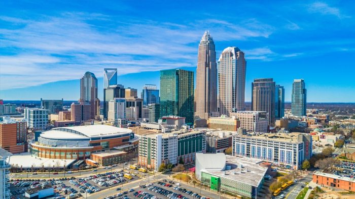 Charlotte Bad Axe Throwing Skyline